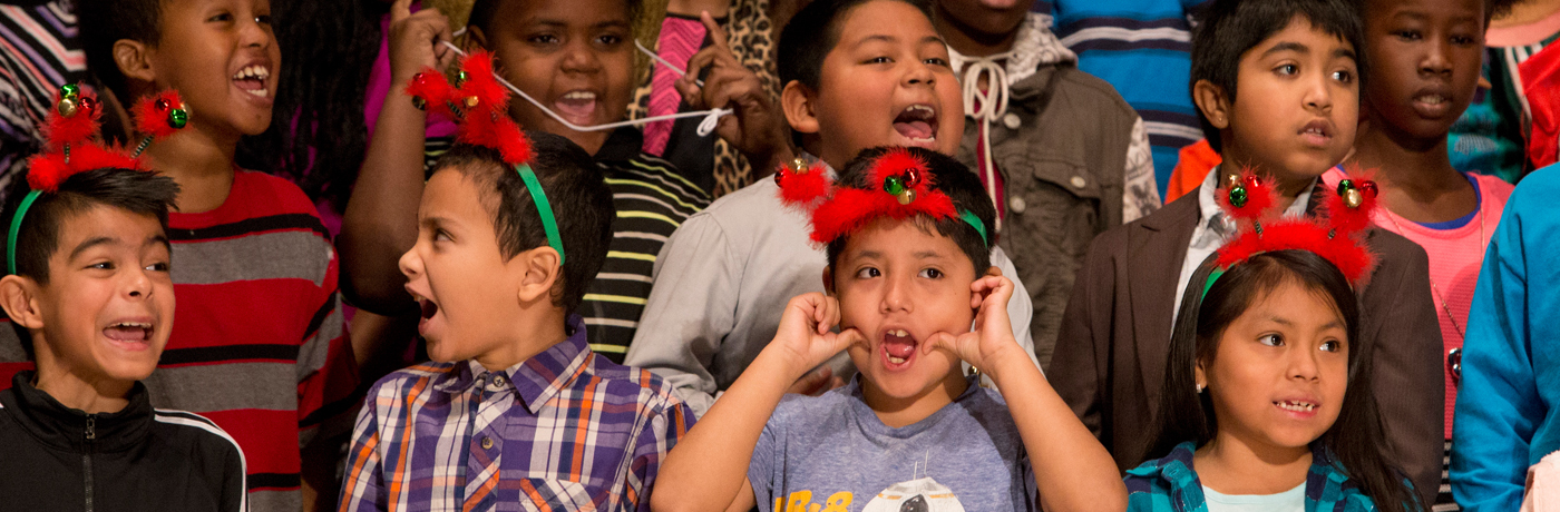 Moulton Elementary School Students Performing in Play